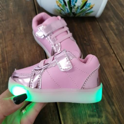Adidasi Alina roz cu luminite