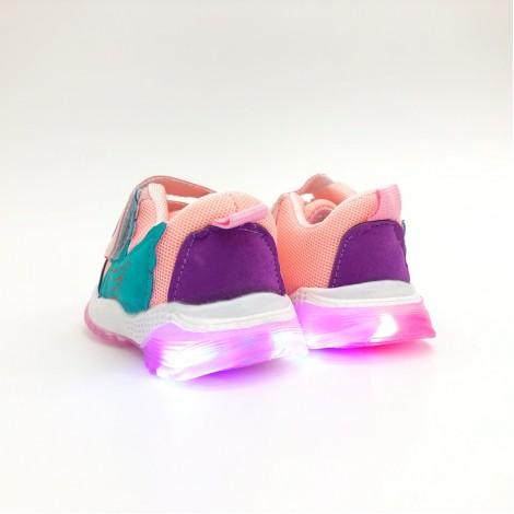 Adidasi Duck roz cu luminite